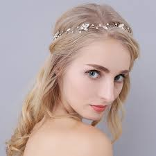 hair crystals vintage simple clear crystals wedding hair vine bridal headpiece