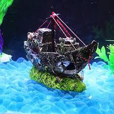 superdream resin fishing boat aquarium ornament plastic decoration