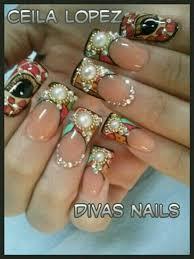 nail art uñas estilo sinaloa t m m pinterest sinaloa