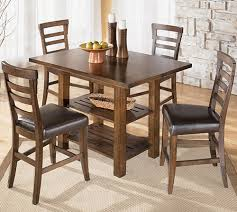 Square Dining Table And Chairs D544 32 124 Pinderton 5 Piece Square Dining Room Counter Extension