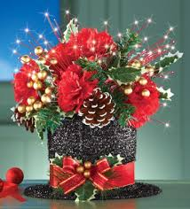 how to make a christmas floral table centerpiece black top hat christmas floral centerpiece i can i make this to go