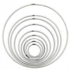 large metal rings images Metal rings large silver round wall hanging hoops dreamcatcher jpg