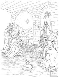 nativity coloring sheets coloring pages for kids jesus nativity christianity bible birth of