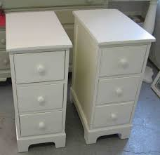 White Bedroom Drawers Uk Double White Wooden Bedside Table Having Three Drawer And White
