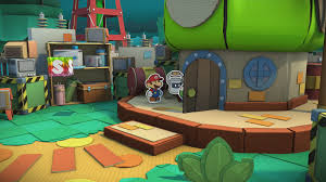 Red Black And Green Flag With Moon And Star Green Energy Plant Paper Mario Color Splash Walkthrough Mario