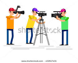 photographer and videographer cool detailed character photographer videographer stock