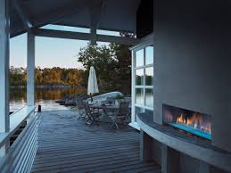 palazzo outdoor gas fireplace stone patio idolza