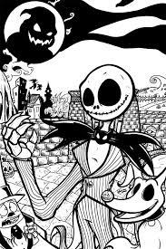 jack skeleton coloring pages funycoloring