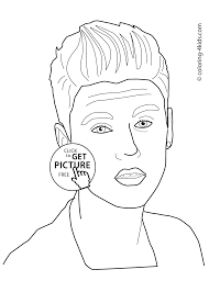 justin bieber coloring pages for kids printable free coloring