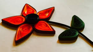 how to make a quilling paper flower a beautiful paper crafts for