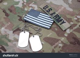 Uniform Flag Patch Us Flag Patch Dog Tag On Stock Photo 721940518 Shutterstock