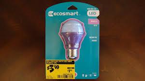 ecosmart purple 2watt led light bulb