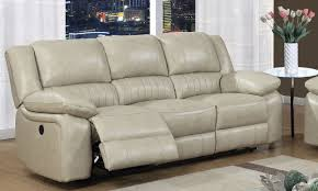 Top Grain Leather Reclining Sofa Top Grain Leather Power Reclining Sofa With Usb The Dump