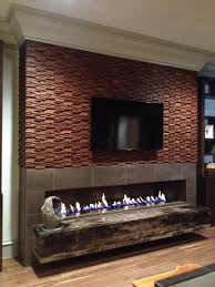 home design gas fireplace ideas with tv above wainscoting