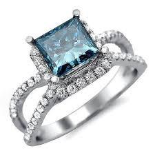 Blue Diamond Wedding Rings by Best 25 Blue Diamond Rings Ideas On Pinterest Blue Diamond