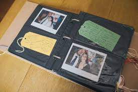 make wedding album how to make a wedding polaroid guest book loy photography