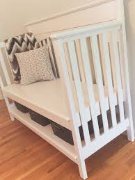 best 25 crib bench ideas on pinterest repurposing crib reuse