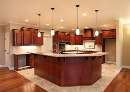 wood countertops kitchen island back panel lighting flooring