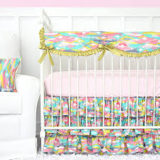 Bright Crib Bedding Pastel Nursery Design With Bright Pastel Baby Bedding Caden