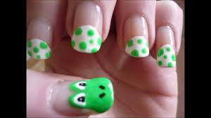unique u0026 easy yoshi nail art tutorial youtube