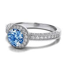 topaz engagement ring vintage swiss blue topaz engagement ring in 14k