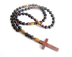men beaded necklace mens cross necklace mens rosary