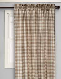 Black And White Buffalo Check Curtains Amazon Com Achim Home Furnishings Buffalo Check Curtain Panel 42