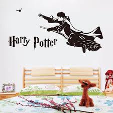 harry potter flying broom vinyl wall decal home decor diy art harry potter flying broom vinyl wall decal home decor diy art mural kids room removable wall stickers in wall stickers from home garden on aliexpress com