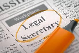sample legal secretary resume