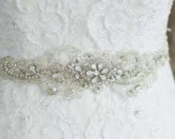 bling belts for wedding dresses bridal chunky czechoslovakia sash silver rhinestone