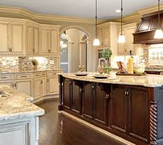 kitchens with different colored islands choosing the kitchen cabinet door style stove hoods and