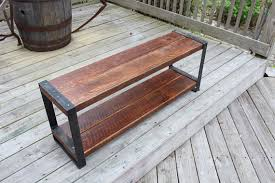 industrial bench reclaimed wood bench wood and metal