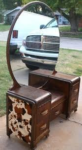Antique Dresser Vanity Art Deco Vanity With Round Mirror Round Designs