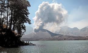 flights are disrupted as three indonesian volcanoes erupt in just