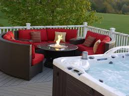 patio furniture with fire pit table home design