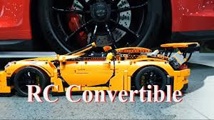 lego porsche 911 gt3 rs rc convertible porsche 911 gt3 rs lego technic 42056 mod 9 youtube