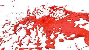 red color splash in super slow motion alpha channel included