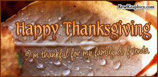happy thanksgiving thankful for my family friends graphic