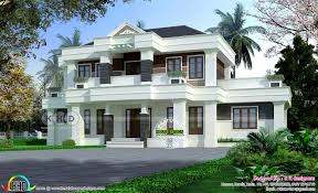 Contemporary Colonial House Plans Modern Colonial Mix House U20b965 Lakhs Kerala Home Design And