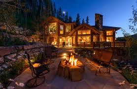 Custom Landscape Lighting by Residental Home Vail Mountain Elegant Hoeft Builders West