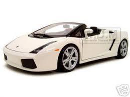 white lamborghini gallardo spyder gallardo spyder white 1 18 diecast model car maisto 31136