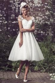 online get cheap tea length country style wedding dress