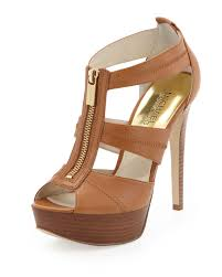 michael michael kors berkley tstrap sandal in brown lyst