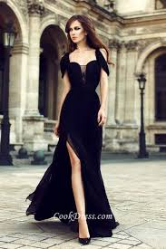 beautiful dress beautiful chiffon side slit formal dress 1 jpg