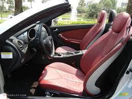 black red interior 2006 mercedes benz slk 350 roadster photo