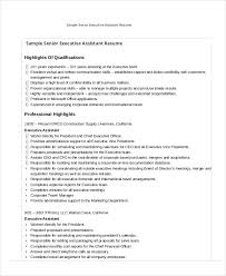 Sample Of Executive Assistant Resume by Executive Assistant Resume 7 Free Word Pdf Documents Download