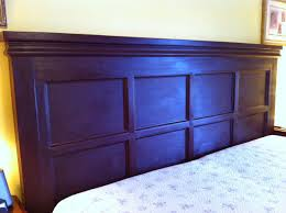 Bookshelf Headboard Plans Accessories Favorable Dark Cherry Wood Bookshelf Headboard With