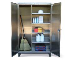 12 inch broom cabinet strong hold products stainless steel janitorial cabinetstainless