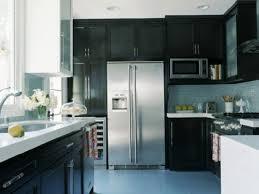 glass tile backsplash with dark cabinets blue glass tile backsplash contemporary kitchen hgtv
