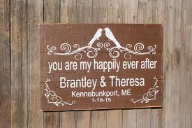 you are my happily ever after wood sign pallet sign personalized